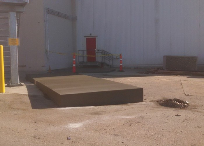 Concrete Pad at Coca Cola