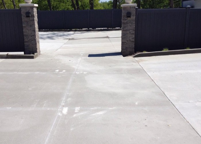 Concrete Parking Lot - Asphalt Torn out and Replaced with Concrete
