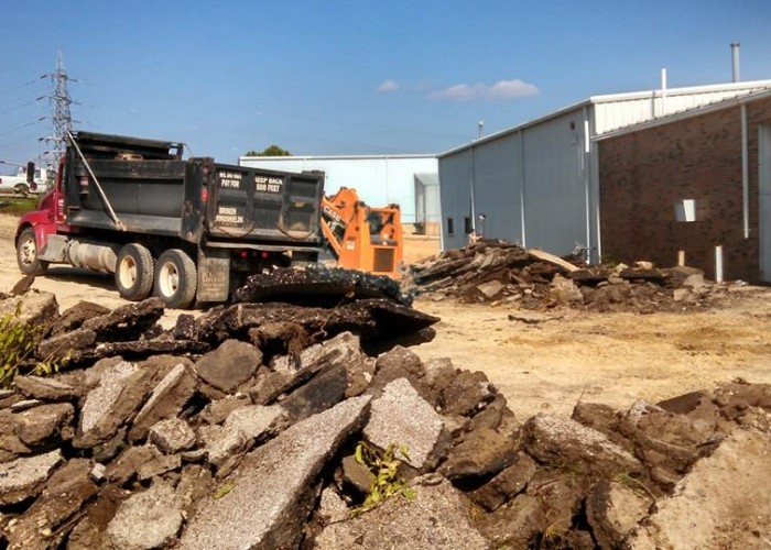 Concrete Parking Lot - Genesis International Asphalt Removal and Replace with Concrete