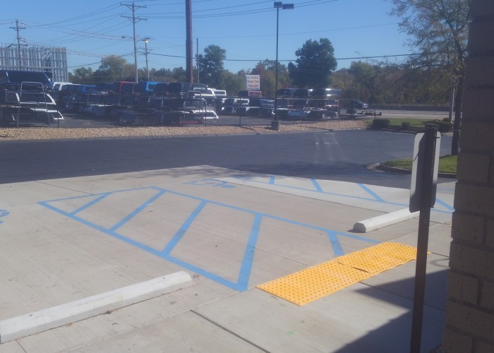 ADA Compliant Parking Stalls Restaurant Eureka MO Widel Paving
