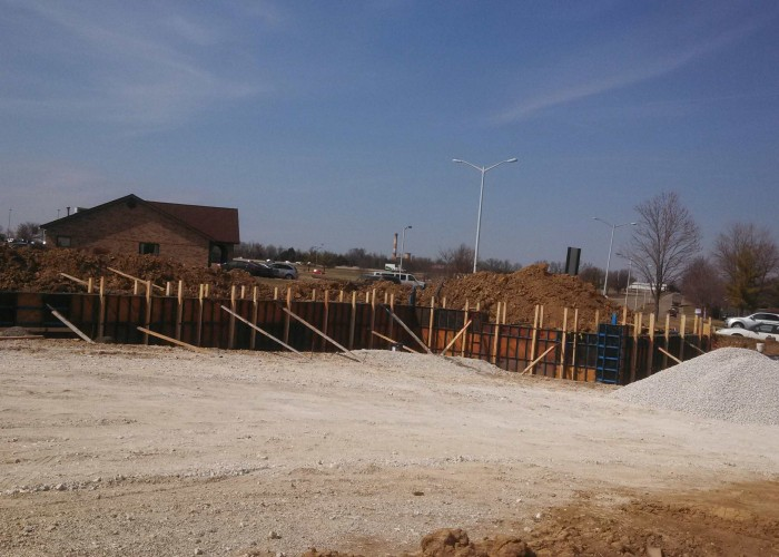 Concrete Retaining Wall, Hospital, Wentzville, MO